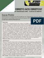 20. Quem tem direito aos direitos - Lucas Freire