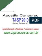 Apostila Concurso TJ - SP 2011 Escrevente [www.zipconcursos.com.br]