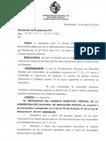 Resolución de la ANEP sobre 7º, 8º y 9º en Educación Rural