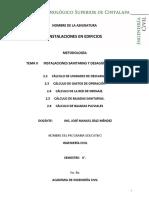 Metodología Diseño Instalaciones Sanitarias y Desagues Pluviales 01