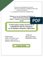 innovation cas entreprise algérien