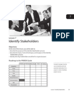 Lesson 7 Identify Stakeholders