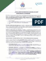 Determinaciones del COED (14 de mayo de 2021)