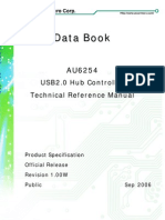 AU6254 USB hub controller datasheet