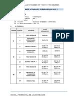 Cronograma de Actividades 2021-i - Lunes-tarde 6.30 Pm - 10.30 Pm