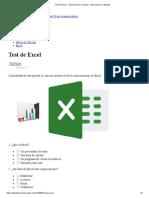 Test de Excel - Test Examen - Examen - Test OnLine _ Cibertest