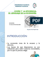 CLASE 3 LA ELECCIÓN  Y  LA EFICIENCIA,.LENGUAJE ECONÓMICO