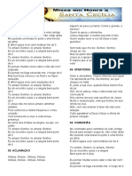 FOLHETO MISSA SANTA CECICLIA 2019