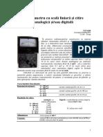 Miliohmetru cu scală liniară si citire analogică si_sau digitală