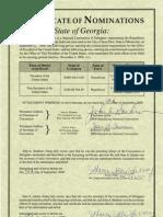 Presidential Nomination Certificate - Rep