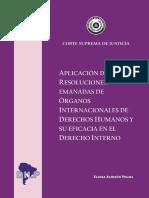 Aplicacion de Las Resoluciones Emanadas Por Organos Constitucionales