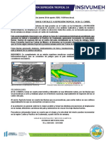Boletin Informativo por Depresion Tropical No. 14