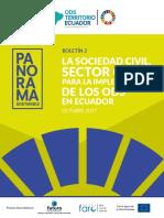 La Sociedad Civil, sector clave para la implementación de los ODS en Ecuador