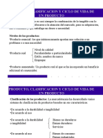 Producto - clasificacion y ciclo de vida