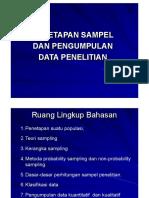 Penetapan Sampel dan Pengumpulan Data Penelitian
