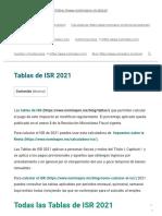 Todas las Tablas de ISR 2021