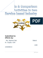 HR Activities in Service Based Industries