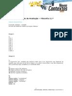 TESTE Filosofia 11 - Lógica Silogística - Correção