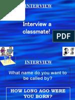 Interview a Classmate Advanced