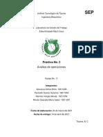 PRSCTICA NO. 2 - ESTUDIO DEL TRABAJO