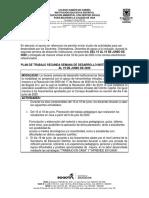 ACTIVIDADES SEGUNDA SEMANA DE DESARROLLO INSTITUCIONAL
