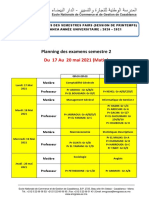 Planning des examens de la session normale du printemps 20202021(1)