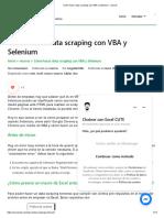 Cómo Hacer Data Scraping Con VBA y Selenium - Macros