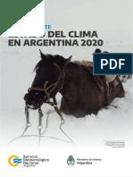 Estado del Clima de Argentina 2020