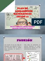 NIVELACIÓN DE MATEMÁTICAS GRADO 11
