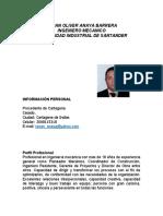 CV Ingeniero Mecanico Renan Anaya
