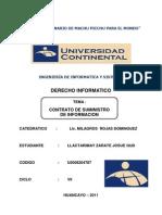 CONTRATO DE SUMINISTRO DE INFORMACION