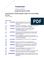 Transcript for #Commschat - Martin Thomas 14 March 2011