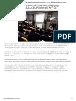 2018-02-23 METRÓPOLI YUCATÁN Fortalecerán Sus Programas UPY y ESAY