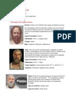 Personajes de la antigua Grecia y arquitectura