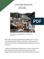 Japan Earthquake, Diary from Sendai (Part II)
