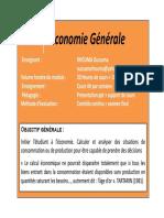 Introduction Eco Générale