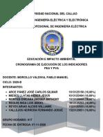 Cronograma de ejecución de los indicadores PEA y PVA (4)