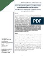 Protocolos psicoterapêuticos para tratamento de ansiedade e depressão na infância