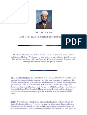 er dating Haram Zakir Naik