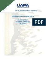 Orientaciones didacticas Introducción a la Psicoterapia