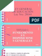Ley Nro. 28044