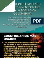 validación del Maslach Burnout Inventory en población colombiana