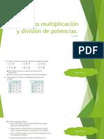 Ejercicios multiplicación y división de potencias 12 mayo