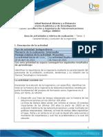 Guia de actividades y Rúbrica de evaluación - Unidad  1 - Tarea 2 - Características y evolución de la ingeniería