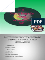 proyecto matematicas 2012