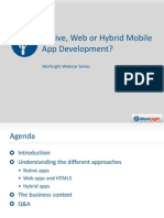 Native Web or Hybrid Mobile App Development