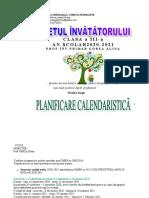 pastraveni_clasa_a_iiia_planificare