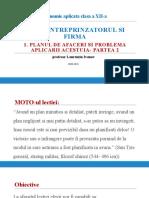 2.5-Planul de Afaceri Si Problema Aplicarii Acestuia- Partea 2
