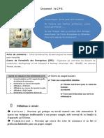 C.F.E. + STATUT DE COMMERCANT