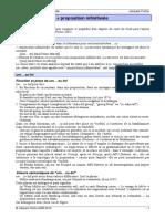 proposition infinative DE
